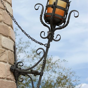 17 of 27: Fantasyland - Fantasyland Enchanted Forest castle wall light fixture