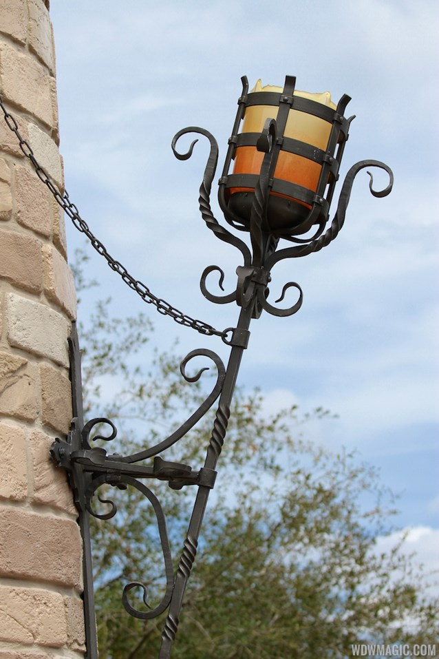 Fantasyland - Fantasyland Enchanted Forest castle wall light fixture