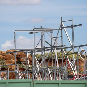 3 of 7: Fantasyland - More steel around the Seven Dwarfs Mine Train coaster