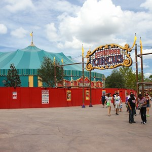 1 of 7: Fantasyland - New Storybook Circus entrance marquee