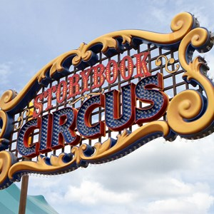 3 of 7: Fantasyland - New Storybook Circus entrance marquee