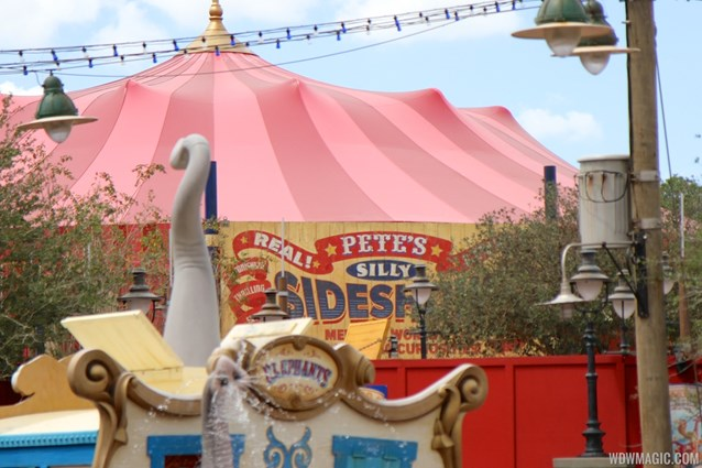 Fantasyland - Pete's Silly Sideshow signage in Storybook Circus