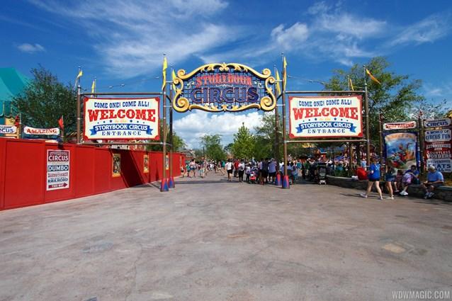 Fantasyland - Storybook Circus entrance signage