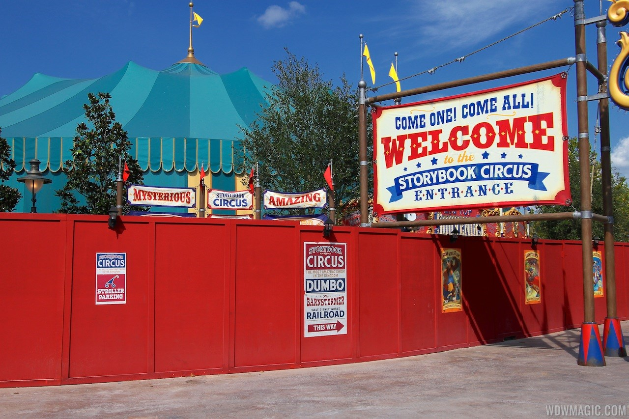 Storybook Circus signage additions