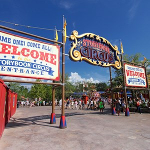 6 of 9: Fantasyland - Storybook Circus entrance signage