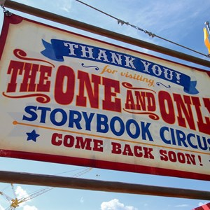 9 of 9: Fantasyland - Storybook Circus entrance signage exit side