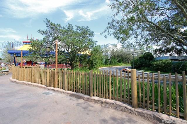 Fantasyland - Storybook Circus to Tomorrowland fencing