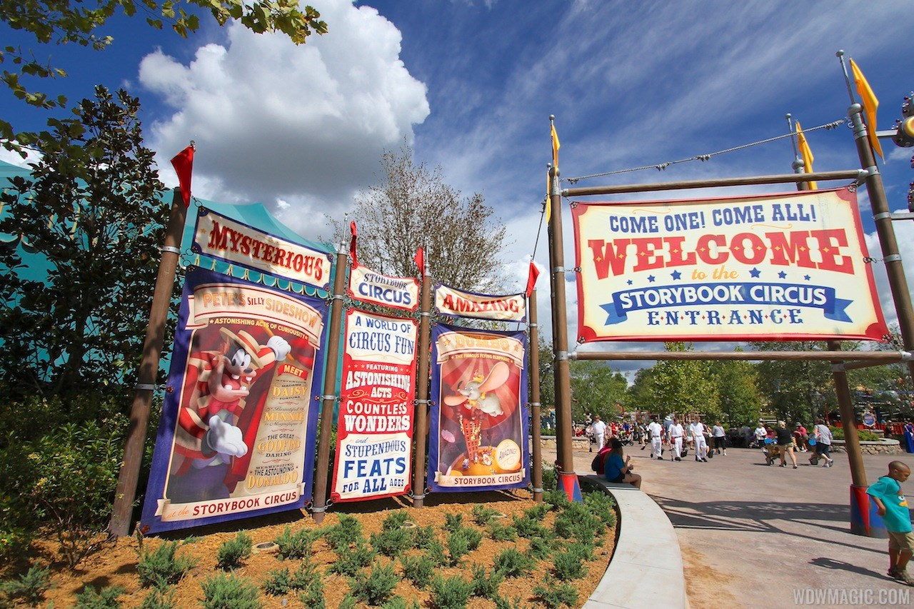Walls down at Big Top Souvenirs and Pete's Silly Sideshow