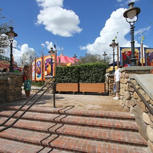 6 of 24: Fantasyland - Walls down at Big Top Souvenirs and Pete's Silly Sideshow