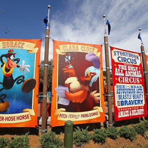 7 of 24: Fantasyland - Walls down at Big Top Souvenirs and Pete's Silly Sideshow