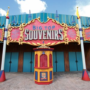 8 of 24: Fantasyland - Walls down at Big Top Souvenirs and Pete's Silly Sideshow