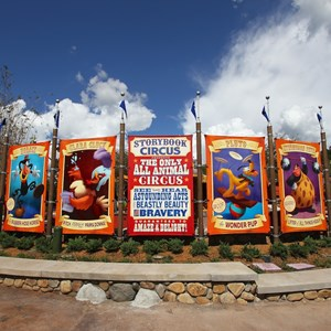9 of 24: Fantasyland - Walls down at Big Top Souvenirs and Pete's Silly Sideshow