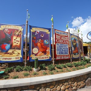 10 of 24: Fantasyland - Walls down at Big Top Souvenirs and Pete's Silly Sideshow