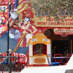 22 of 24: Fantasyland - Walls down at Big Top Souvenirs and Pete's Silly Sideshow