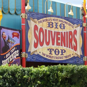 24 of 24: Fantasyland - Walls down at Big Top Souvenirs and Pete's Silly Sideshow