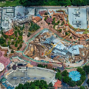 2 of 8: Fantasyland - Aerial views of new Fantasyland