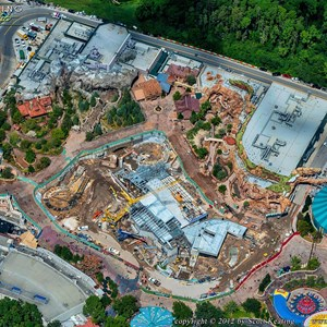 3 of 8: Fantasyland - Aerial views of new Fantasyland