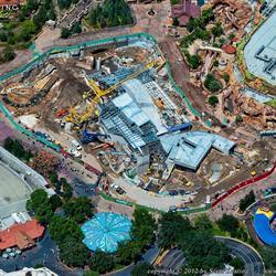Aerial views of new Fantasyland