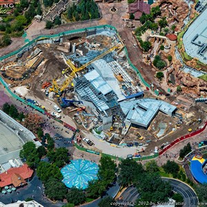 6 of 8: Fantasyland - Aerial views of new Fantasyland