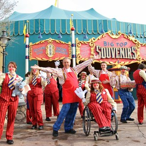1 of 35: Fantasyland - Big Top Souvenirs opening day - Cast Member welcome