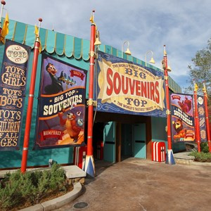 3 of 35: Fantasyland - Big Top Souvenirs opening day - side entrance