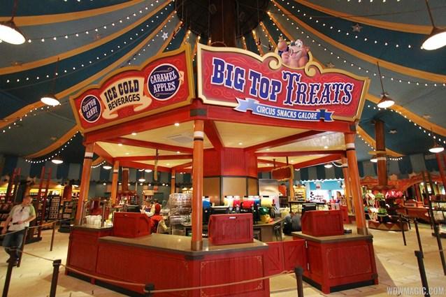 Fantasyland - Big Top Souvenirs opening day - Big Top Treats kitchen