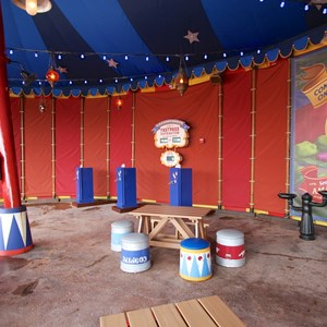 5 of 21: Fantasyland - Storybook Circus third big top - FASTPASS distribution