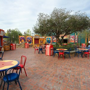 7 of 21: Fantasyland - Storybook Circus park and food area