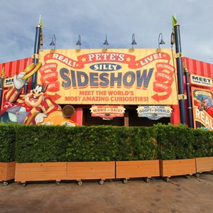 12 of 21: Fantasyland - Storybook Circus park - entrance to Pete's Silly Sideshow