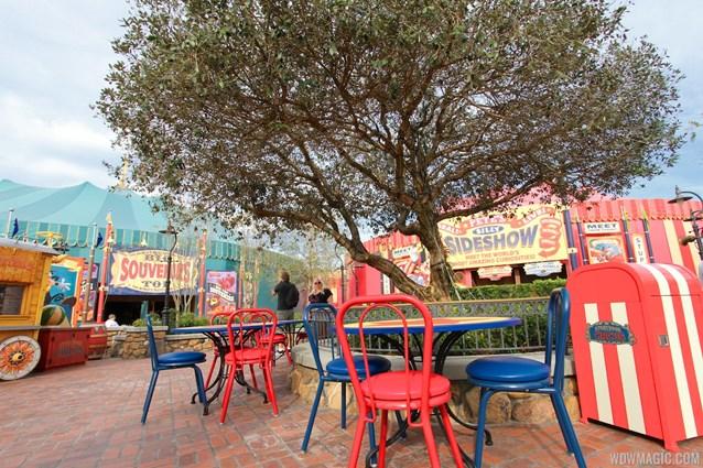 Fantasyland - Storybook Circus park and food area