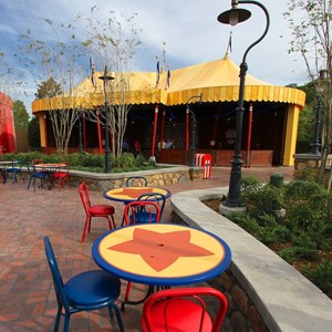 15 of 21: Fantasyland - Storybook Circus park and food area