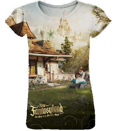 Fantasyland - New Fantasyland commemorative collection - Women's Fitted Sublimation Tee