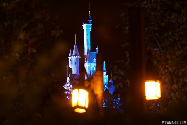 Fantasyland - Beast's Castle nighttime lighting scheme