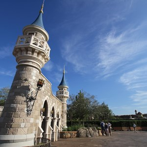 1 of 6: Fantasyland - Walls down at Enchanted Forest entrance