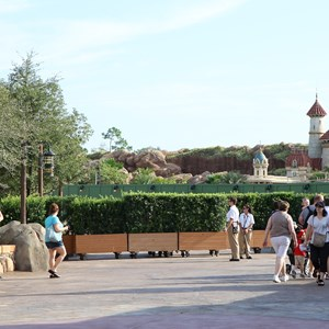 5 of 6: Fantasyland - Walls down at Enchanted Forest entrance