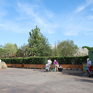 6 of 6: Fantasyland - Walls down at Enchanted Forest entrance