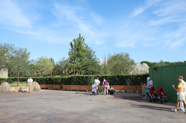 Fantasyland - Walls down at Enchanted Forest entrance