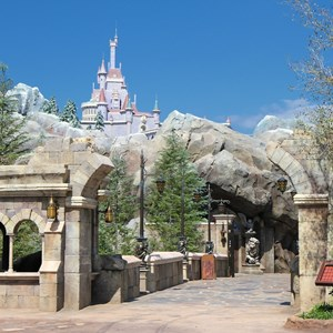 3 of 40: Fantasyland - New Fantasyland Enchanted Forest - the entrance to Be Our Guest Restaurant