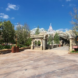 2 of 40: Fantasyland - New Fantasyland Enchanted Forest - the entrance to Be Our Guest Restaurant