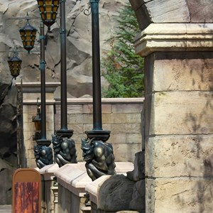 8 of 40: Fantasyland - New Fantasyland Enchanted Forest - details around the entrance to Be Our Guest Restaurant