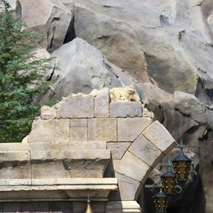 13 of 40: Fantasyland - New Fantasyland Enchanted Forest - details around the entrance to Be Our Guest Restaurant
