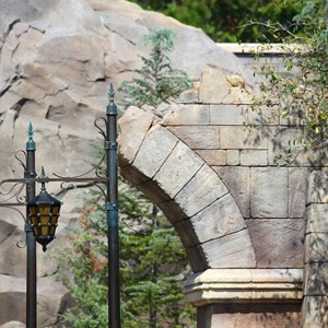 14 of 40: Fantasyland - New Fantasyland Enchanted Forest - details around the entrance to Be Our Guest Restaurant