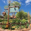 Fantasyland - New Fantasyland Enchanted Forest - Enchanted Tales with Belle signage