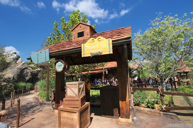 Fantasyland - New Fantasyland Enchanted Forest - Enchanted Tales with Belle wait time clock and standby line entrance