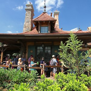 35 of 40: Fantasyland - New Fantasyland Enchanted Forest - Enchanted Tales with Belle Maurices Cottage