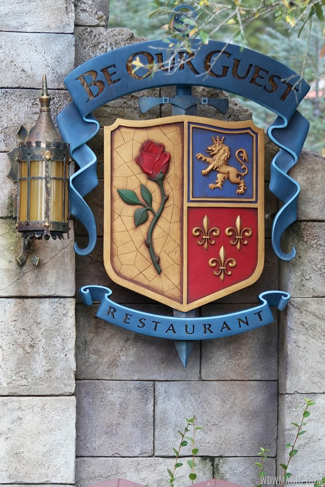 Fantasyland - New Fantasyland Enchanted Forest - Be Our Guest Restaurant marquee