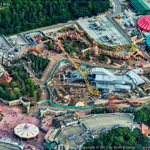 1 of 4: Fantasyland - Aerial views of new Fantasyland
