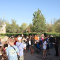 Fantasyland - Crowds gathering outside the new Fantasyland prior to the first sot opening for guests