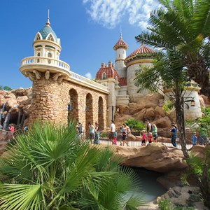 13 of 43: Fantasyland - Fantasyland soft opening - Under the Sea - Journey of the Little Mermaid Prince Eric's Castle