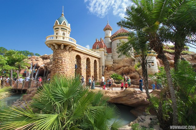 Fantasyland - Fantasyland soft opening - Under the Sea - Journey of the Little Mermaid Prince Eric's Castle